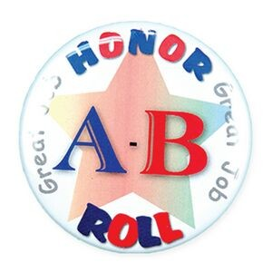 "2¼"" Stock Celluloid ""A-B Honor Roll"" Button"