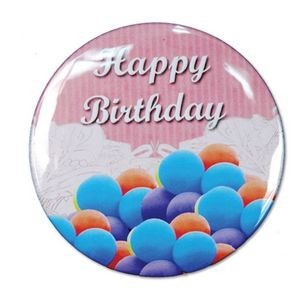 "1½"" Stock Celluloid ""Happy Birthday"" Button (Pink)"
