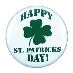 "2¼"" Stock Celluloid ""Happy St. Patrick's Day!"" Button"