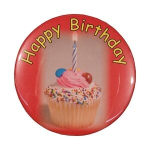"2¼"" Stock Celluloid ""Happy Birthday"" Button"