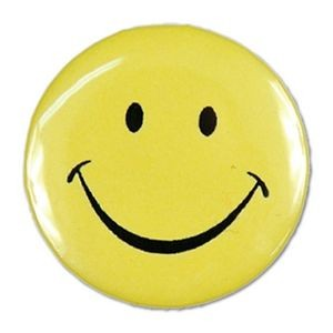 "1½"" Stock Celluloid ""Smiley Face"" Button"