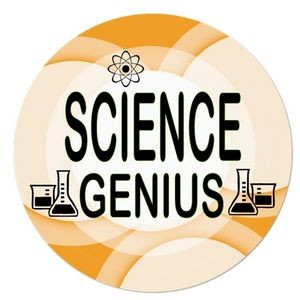 "2¼"" Stock Celluloid ""Science Genius"" Button"