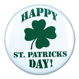 "1½"" Stock Celluloid ""Happy St. Patrick's Day!"" Button"