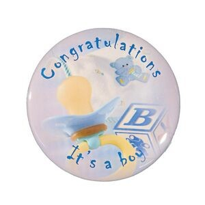"2¼"" Stock Celluloid ""Congratulations It's A Boy"" Button"