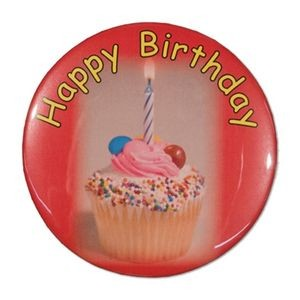 "1½"" Stock Celluloid ""Happy Birthday"" Button"