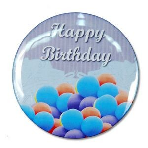 "2¼"" Stock Celluloid ""Happy Birthday"" Button (Blue)"