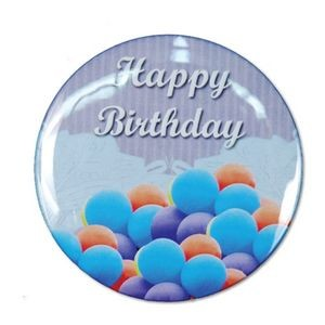 "1½"" Stock Celluloid ""Happy Birthday"" Button (Blue)"