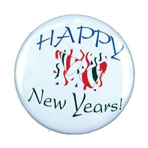 "2¼"" Stock Celluloid ""Happy New Year"" Button"