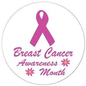 "2¼"" Stock Celluloid ""Breast Cancer Awareness Month"" Button"