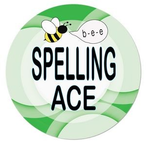 "2¼"" Stock Celluloid ""Spelling Ace"" Button"