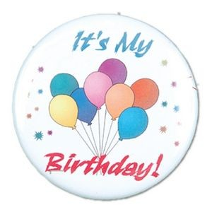"1½"" Stock Celluloid ""It's My Birthday!"" Button"