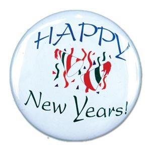 "1½"" Stock Celluloid ""Happy New Year"" Button"