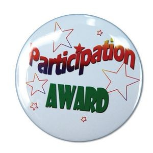 "1½"" Stock Celluloid ""Participant Award"" Button"