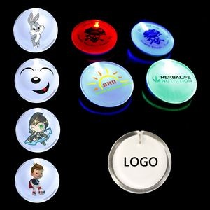 Custom Led Badge Luminous Brooch Christmas Luminous Toy
