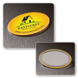 Oval Button Mirror