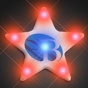 Imprinted Turbo Star Pin