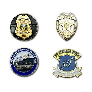 "1"" Die Struck Iron Soft Enamel Lapel Pin (Large Quantity)"