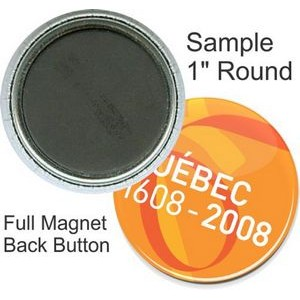 Custom Buttons - 1 Inch Round, Full Magnet